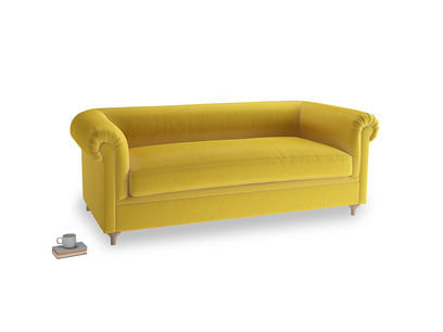 Large Humblebum Sofa in Bumblebee clever velvet
