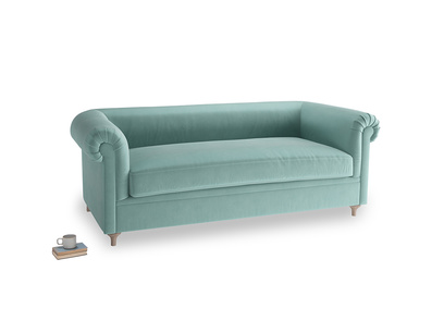 Large Humblebum Sofa in Greeny Blue Clever Deep Velvet