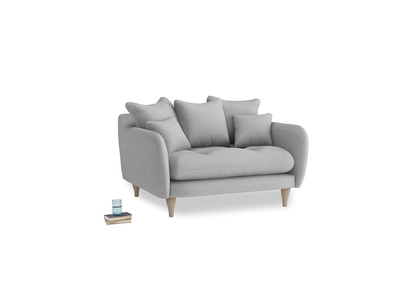 Skinny Minny Love Seat in Pewter Clever Softie