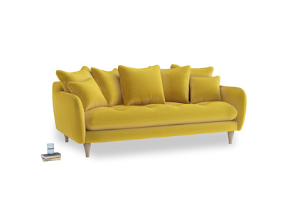 Large Skinny Minny Sofa in Bumblebee clever velvet