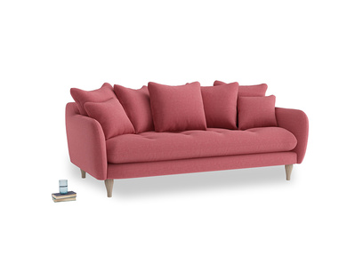 Large Skinny Minny Sofa in Raspberry brushed cotton