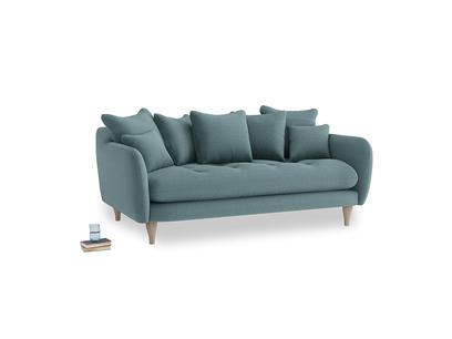 Medium Skinny Minny Sofa in Marine washed cotton linen