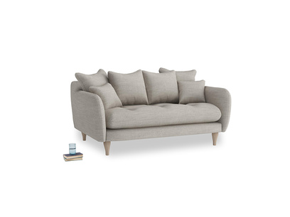 Small Skinny Minny Sofa in Grey Daybreak Laundered Linen