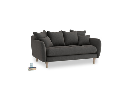 Small Skinny Minny Sofa in Old Charcoal brushed cotton