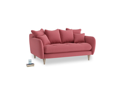 Small Skinny Minny Sofa in Raspberry brushed cotton