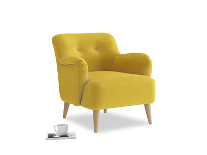 Diggidy Armchair in Bumblebee clever velvet