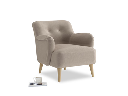 Armchair Diggidy in Fawn clever velvet