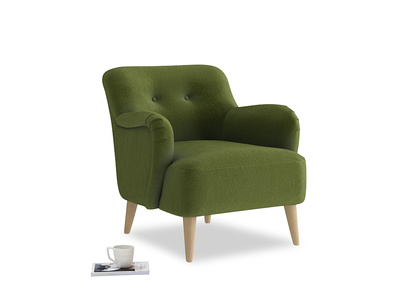 Diggidy Armchair in Good green Clever Deep Velvet
