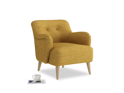 Diggidy Armchair in Mellow Yellow Clever Laundered Linen