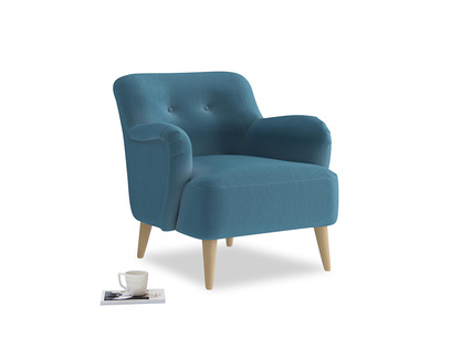 Diggidy Armchair in Old blue Clever Deep Velvet