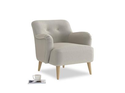 Diggidy Armchair in Smoky Grey clever velvet