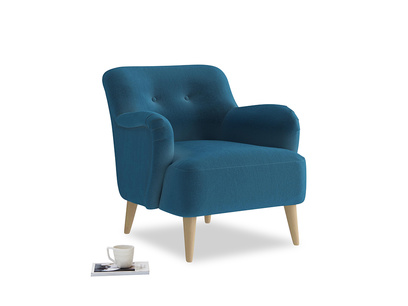 Diggidy Armchair in Twilight blue Clever Deep Velvet