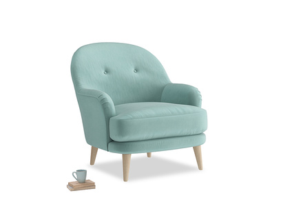 Sweetspot Armchair in Greeny Blue Clever Deep Velvet