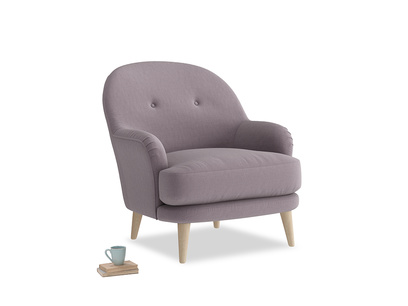 Sweetspot Armchair in Lavender brushed cotton