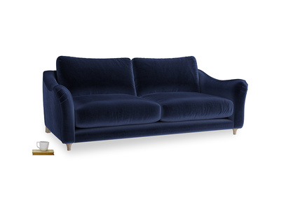 Large Bumpster Sofa in Goodnight blue Clever Deep Velvet