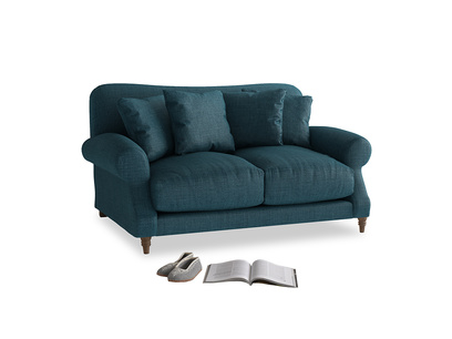 Small Crumpet Sofa in Harbour Blue Vintage Linen