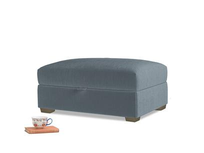 Bumper Storage Footstool in Odyssey Clever Deep Velvet