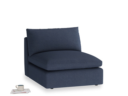 Cuddlemuffin Single Seat in Night Owl Blue Clever Woolly Fabric
