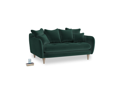 Small Skinny Minny Sofa in Dark green Clever Velvet