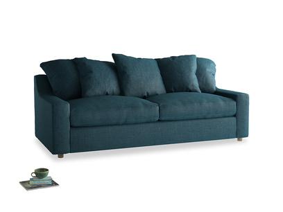 Large Cloud Sofa Bed in Harbour Blue Vintage Linen