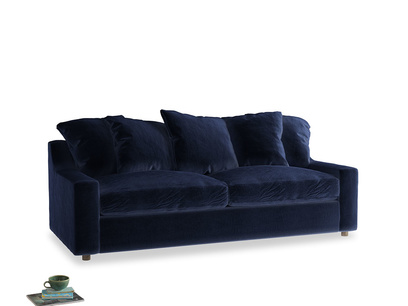 Large Cloud Sofa Bed in Goodnight blue Clever Deep Velvet