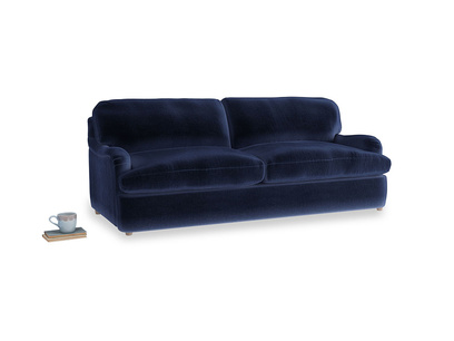 Large Jonesy Sofa Bed in Goodnight blue Clever Deep Velvet