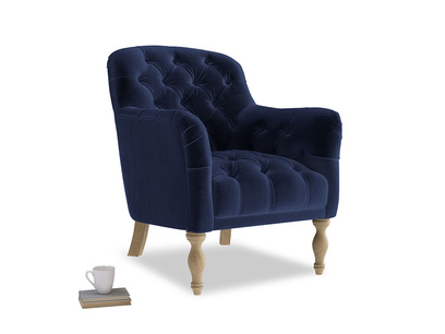 Reader Armchair in Goodnight blue Clever Deep Velvet