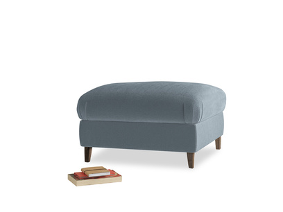 Small Square Legsie Footstool in Odyssey Clever Deep Velvet