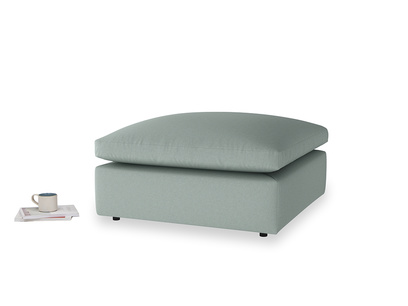 Cuddlemuffin Footstool in Sea fog Clever Woolly Fabric