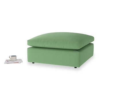 Cuddlemuffin Footstool in Clean green Brushed Cotton