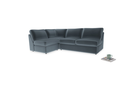 Large left hand Chatnap modular corner storage sofa in Odyssey Clever Deep Velvet