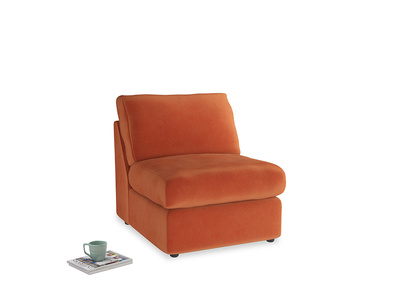 Chatnap Storage Single Seat in Old Orange Clever Deep Velvet