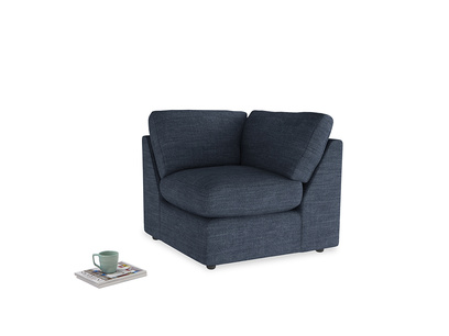 Chatnap Corner Unit in Selvedge Blue Clever Laundered Linen