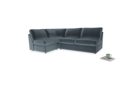 Large left hand Chatnap modular corner sofa bed in Odyssey Clever Deep Velvet