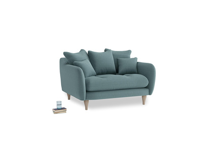 Skinny Minny Love Seat in Marine washed cotton linen