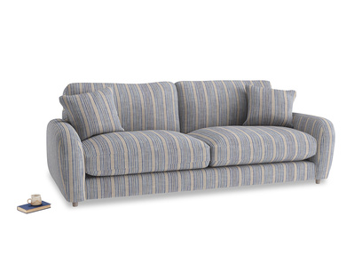 Large Easy Squeeze Sofa in Brittany Blue french stripe
