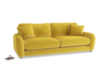 Large Easy Squeeze Sofa in Bumblebee clever velvet