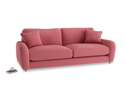 Large Easy Squeeze Sofa in Raspberry brushed cotton