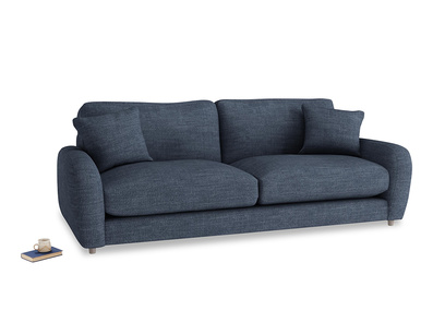 Large Easy Squeeze Sofa in Selvedge Blue Laundered Linen