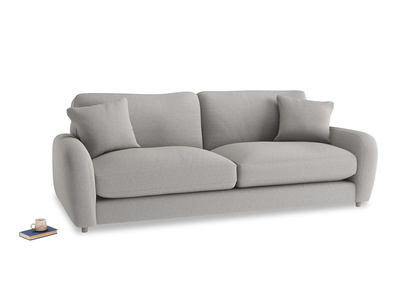 Large Easy Squeeze Sofa in Wolf brushed cotton