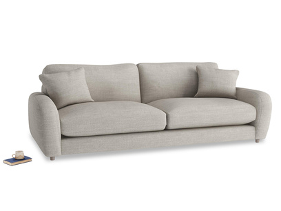 Extra large Easy Squeeze Sofa in Grey Daybreak Clever Laundered Linen