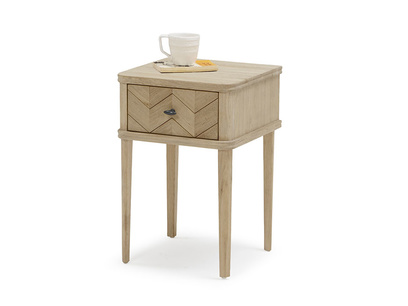 Little Flapper parquet wood bedside table