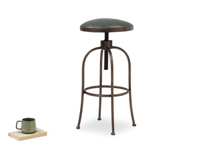 Breakfast adjustable leather bar stool