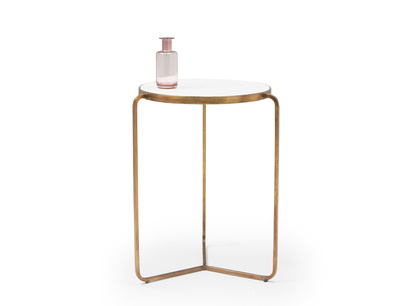 High Jinks side table with brass and marble top