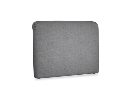 Kingsize Cookie Headboard in Strong grey clever woolly fabric