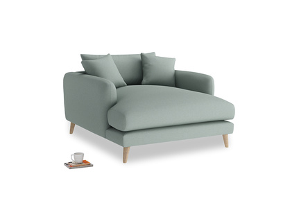 Squishmeister Love Seat Chaise in Sea fog Clever Woolly Fabric