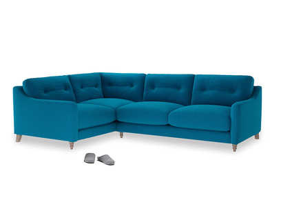 Large Left Hand Slim Jim Corner Sofa in Bermuda Brushed Cotton