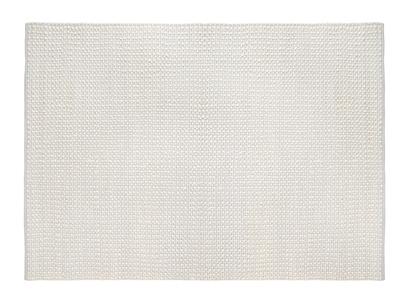 Bobble cream grey soft handmade floor rug