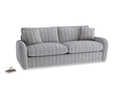 Large Easy Squeeze Sofa Bed in Brittany Blue french stripe