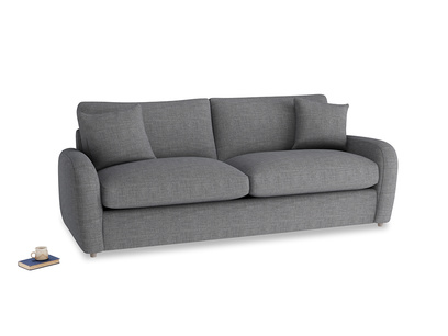Large Easy Squeeze Sofa Bed in Strong grey clever woolly fabric